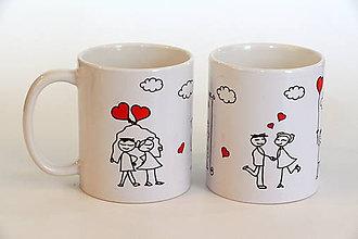 Nádoby - šálka s valentínskym motívom - 6295836_