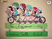 Menovka - rodinka na bicykli