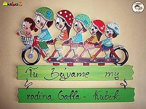 Tabuľky - Menovka - rodinka na bicykli - 6292874_