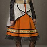 Sukne - ZĽAVA Sukňa ANCA - oranžová - 6292976_