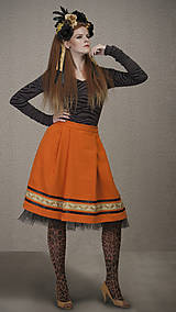 Sukne - ZĽAVA Sukňa ANCA - oranžová - 6292979_
