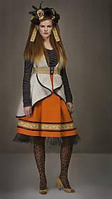 Sukne - ZĽAVA Sukňa ANCA - oranžová - 6292996_