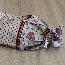 Úžitkový textil - Obal na chlieb - srdiečkový - 6293397_