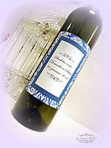 Papiernictvo - Etiketa na víno