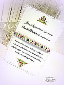 Papiernictvo - Svadobné oznámenie: \