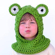Detské čiapky - Žabiatko zakuklené - 6291907_