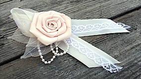 Svadobné pierko - Ruža de la creme