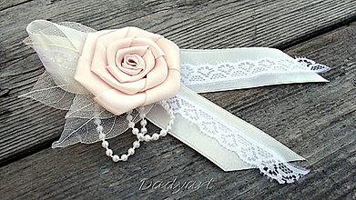 Pierka - Svadobné pierko - Ruža de la creme - 6299629_