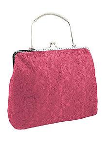 Kabelky - Spoločenská dámská čipková kabelka růžová 0976A4 - 6298203_
