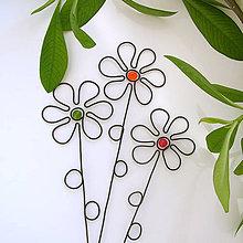 Dekorácie - zápich kvet malý - 6300004_