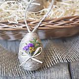 Dekorácie - Veľkonočné vajíčko s kvetmi - 6297203_