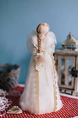 Dekorácie - Vintage anjel - 6297405_