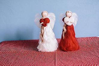 Dekorácie - Valentínsky anjelik - 6297829_