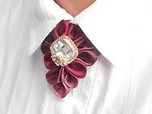 Náhrdelníky - Elegancia a la Chanel - vínová de Luxe - 6299948_