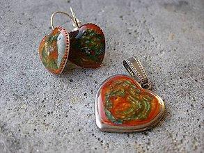 Sady šperkov - Maľované srdiečka - sada - akcia č.423 - 6299419_