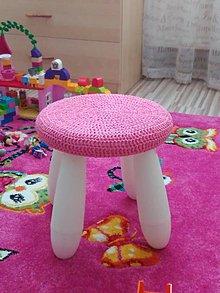 Úžitkový textil - Podsedák ružový detský - 6297544_