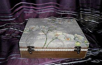 Krabičky - šperkovnica-orchidea II. - 6297198_