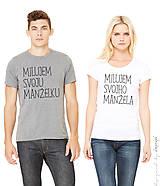 - Pánske a dámske tričko krátky rukáv - súprava MILUJEM  - 6298059_