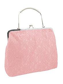 Kabelky - Spoločenská dámská čipková kabelka růžová 0976A8 - 6304760_