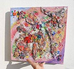 Obrazy - lel, future 3Ddecor flowers art ..cesta tvorbou - 6302101_