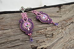 - Soutache náušnice Dream Violets - 6302731_