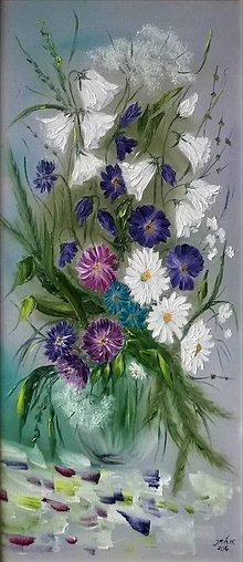 Obrazy - Poľné kvety - 6304852_
