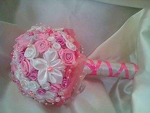 Kytice pre nevestu - Ružová kytička k sviatku alebo svadbe - 6305259_