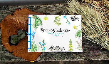Knihy - 30%zľava Bylinkový kalendár - ručne písaný a maľovaný,originál - 6302929_