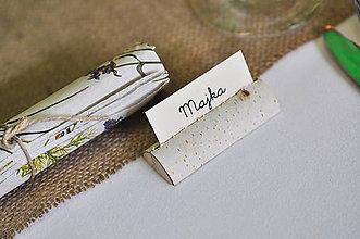Darčeky pre svadobčanov - Svadobné menovky - 6301488_