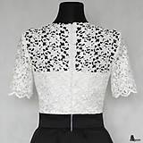 Šaty - Koktejlové šaty so skladanou sukňou z hrubej krajky s rukávom rôzne farby - 6301928_