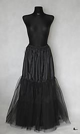Sukne - Spoločenská skladaná sukňa s tylovou spodničkou rôzne farby - 6302217_