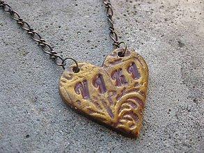 Náhrdelníky - Meno v srdci - náhrdelník - 6304485_