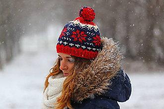 Čiapky, čelenky, klobúky - biela, modrá,červená  - 6305059_