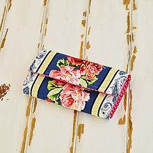Peňaženky - Peňaženka-ruže so vzormi - 6304466_