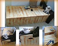 """Nábytok - Viacúčelová truhla-masívna lavica-stôl-válanda """"Palisander"""" :) - 6302892_"""