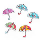 Drevený gombík dáždnik (balíček 5ks)