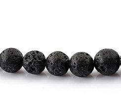 Minerály - Lávové korálky 10mm - 6302455_