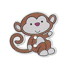 Galantéria - Drevený gombík opička - 6304001_