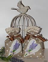 Úžitkový textil - Levanduľové vrecúška - svetlo hnedé - 6303751_