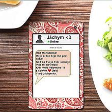 Papiernictvo - Valentínska SMS pohľadnica 6 - rôzne vzory - 6302117_