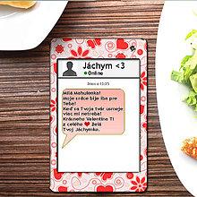 Papiernictvo - Valentínska SMS pohľadnica 12 - kvitnúca láska - 6302140_