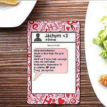 Papiernictvo - Valentínska SMS pohľadnica 13 - plná lásky - 6302141_
