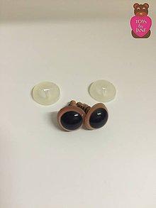 Komponenty - Bezpečnostné oči - béžové 12mm - 6308381_