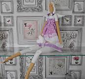Bábiky - bábika tilda anjelička v ružovo - fialkovom   prevedení - 6306427_