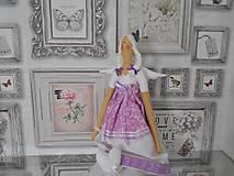Bábiky - bábika tilda anjelička v ružovo - fialkovom   prevedení - 6306439_