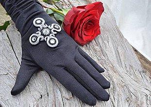Rukavice - Dámské spoločenské rukavice Midnight Cross - 6307923_