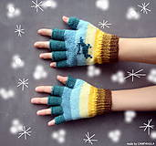 Rukavice - Bezprsté so sobíkom, rukavice - 6308635_