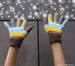 Rukavice - Samé pásiky slnkom prežiarené, rukavice - 6308750_
