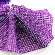 Galantéria - Kamienková stuha fialová - cena za 10 cm - 6308211_