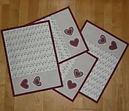 Úžitkový textil - Prestieranie so srdiečkami - dva varianty - 6307557_